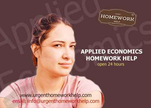 applied economics homework help