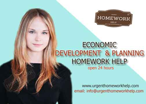 economic development & planning homework help