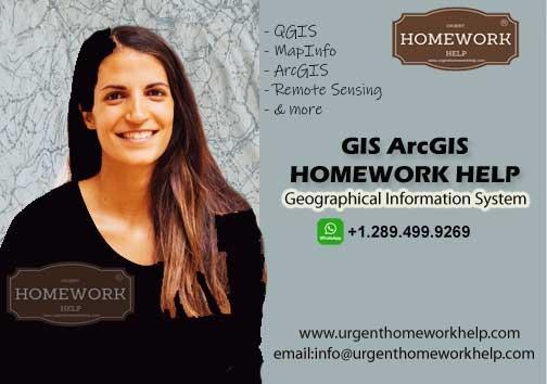 GIS ArcGIS homework help