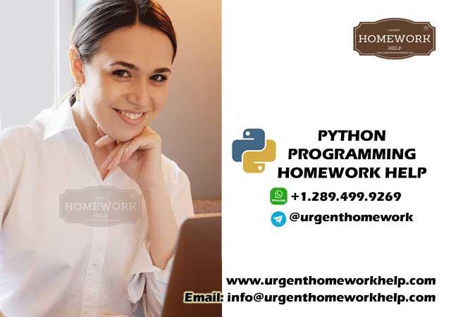 python programming homework help